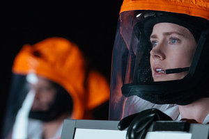 Still of Amy Adams in the film Arrival