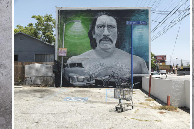 """Ken Gonzales-Day, """"Danny,"""" mural by Levi Ponce, Van Nuys Blvd., Pacoima, 2013."""