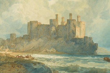 Joseph Mallord William Turner (British, 1775–1851), Conway Castle, North Wales, 1798. Watercolor and gum arabic with graphite underdrawing. 53.7 × 76.5 cm. The J. Paul Getty Museum, Los Angeles.