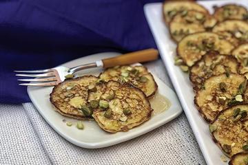 Left: Amelia Saltsman; Right: Cheese pancakes