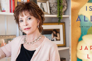 isabel allende author photo and The Japanese Lover book cover