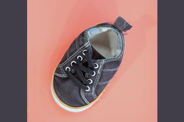 image of one baby shoe