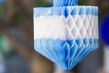 blue and white Holiday decoration