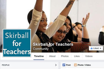 Detail of the Skirball for Teachers Facebook page