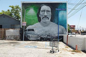 """Ken Gonzales-Day, <em>""""Danny,"""" mural by Levi Ponce, Van Nuys Blvd., Pacoima</em>, 2016."""