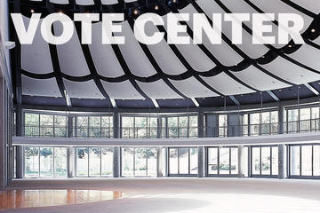 image of Skirball building where vote center will be