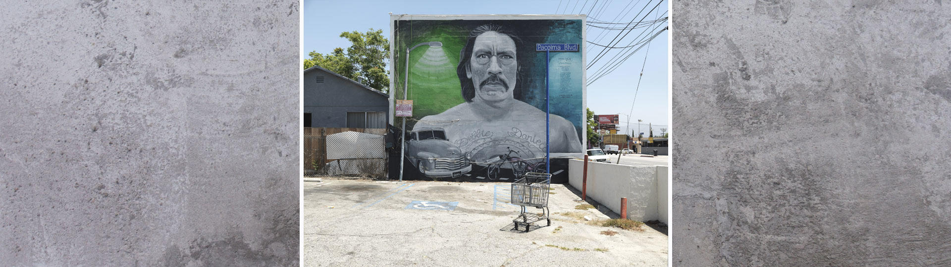 """Ken Gonzales-Day, """"Danny,"""" mural by Levi Ponce, Van Nuys Blvd., Pacoima, 2016"""