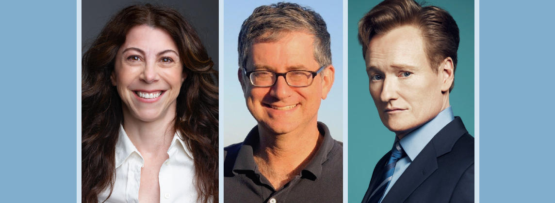 just the funny parts: Nell Scovell, Greg Daniels,Conan O'Brien