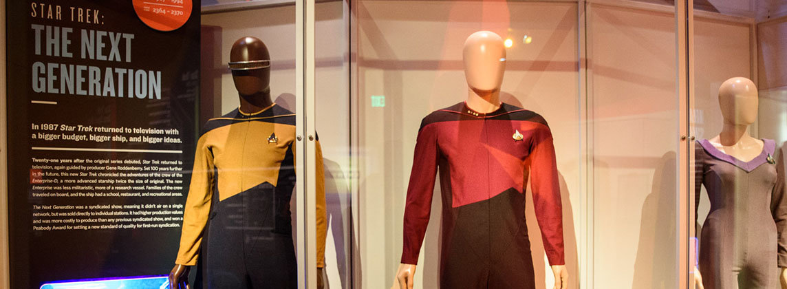 Installation view of Star Trek: Exploring New Worlds, courtesy of Museum of Pop Culture
