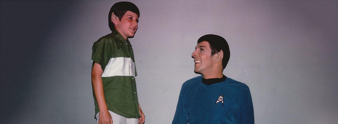 Photo of Adam Nimoy and his father Leonard Nimoy