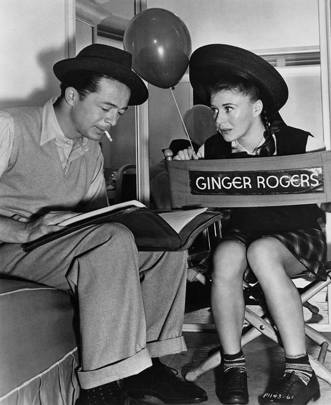 Billy Wilder and Ginger Rogers