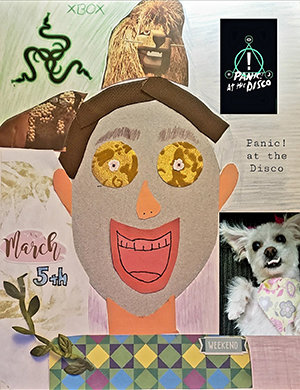 Jorge self portrait collage