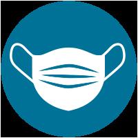 Wear mask icon