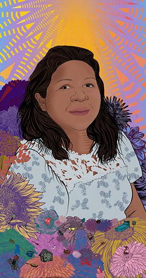 stephanie Mercado portrait of Jannette, Domestic Worker & Child Care Provider
