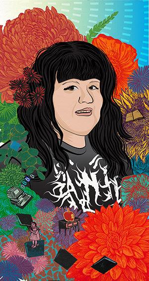 Stephanie Mercado portrait of Ana Rodriguez, artist and high school teacher