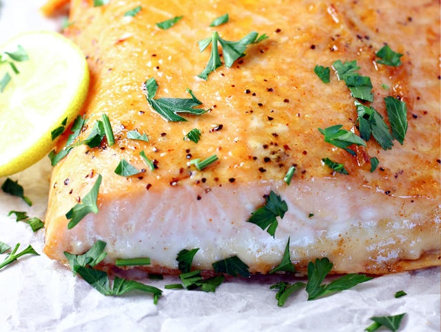 photo of honey glazed salmon