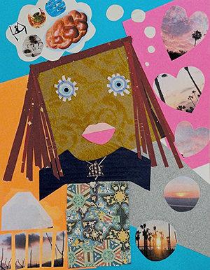 Talia self portrait collage