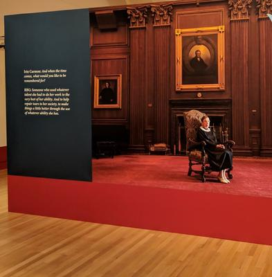 """""""Notorious RBG: The Life and Times of Ruth Bader Ginsberg"""" exhibition wall"""