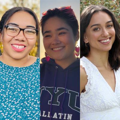 Skirball full-time summer interns: Julianna, Charlie, and Julia