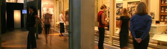 visitors in museum gallery